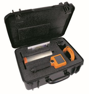 Transport case with Gamma Surveyor Vario and standard accessories